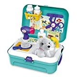 Siairo Vet Kit Pet Care Play Set 16 PCS Dog Grooming Kit with Backpack Educational Pretend Play Toy for Toddlers Kids Children Age 3 Up