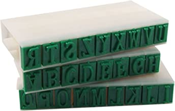 BOZLIZ - Alphabet Stamp Set - 0.4 Quot Length Letters Detachable 26 English Alphabet Stamp Set - Kids Large Small Metal Clay Stamp Stamping Cursive Alphabet Leather Toddlers Inch Lowercase