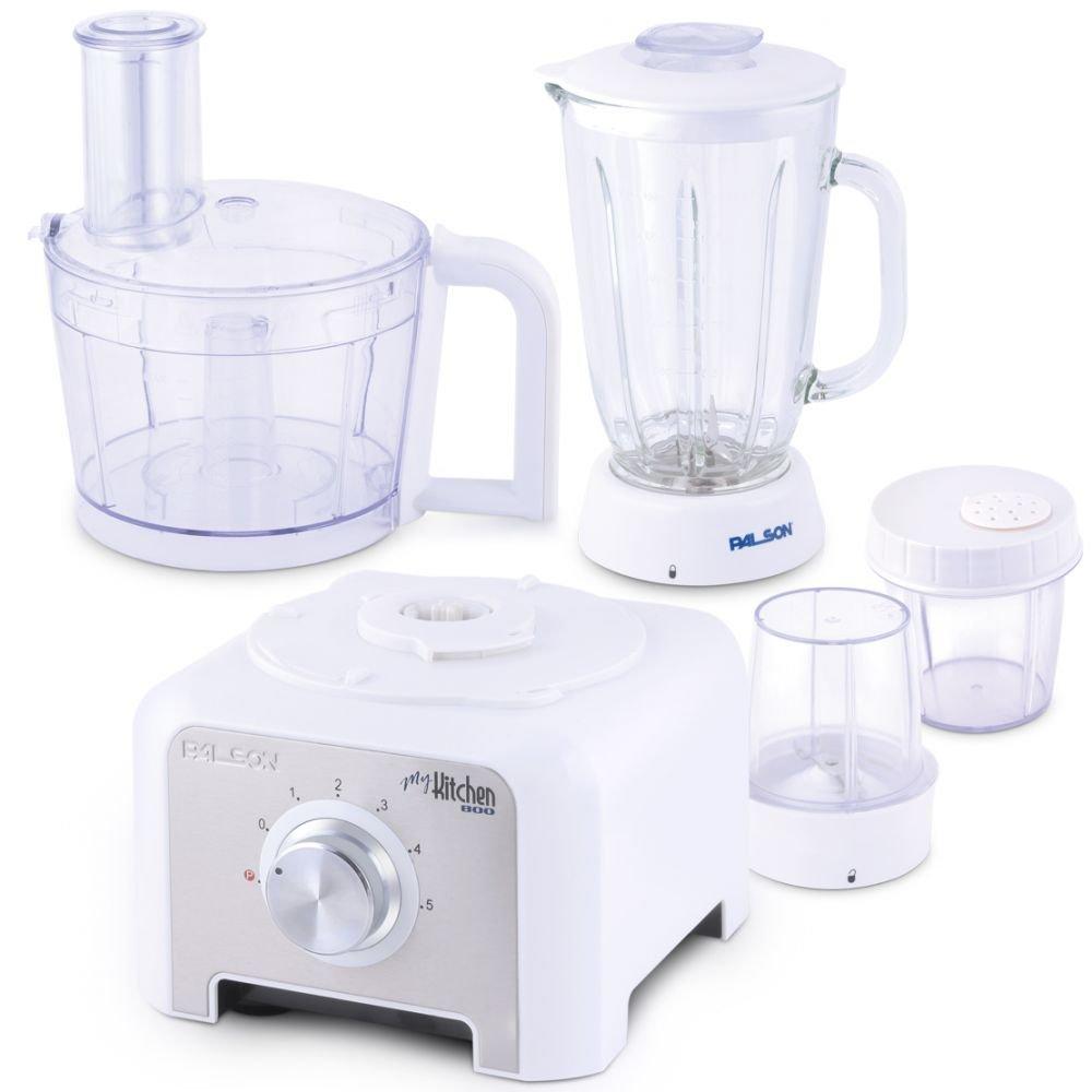 Palson My Kitchen Robot de cocina 8 en 1, 800 W, 1.5 l, accesorios de acero inoxidable, color blanco: Amazon.es: Hogar