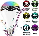 Dmygo LED Inteligente Bluetooth Altavoz de la música del Bulbo Regulable RGB 9W E27 Wireless Control App for iOS y Android (1Pack)