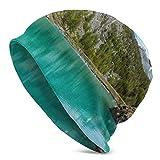 Kaswtrb Ofkph1406 Gorro de Lana de Moda para Unisex, Lienzo de Pintura al óleo, Textura Colorida, Gorra de Reloj Rosa