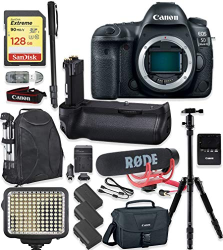Best Review Of Canon EOS 5D Mark IV DSLR Camera Body Only Kit + 128GB Sandisk Extreme Memory + Video...