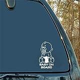 10.2 * 18.2 CM Bébé à bord Avis Autocollant De Voiture Moto Accessoires Décoratifs En Plastique Stickers Arrière Tronc Emblème Fenêtre Badge