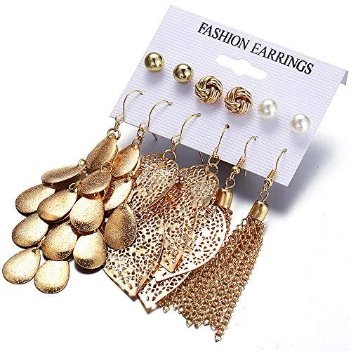 Pendientes de borla creativos joyería de oreja mujeres pequeños pendientes de flores frescas pendientes de todo fósforo para niñas Aleación A01-11-01