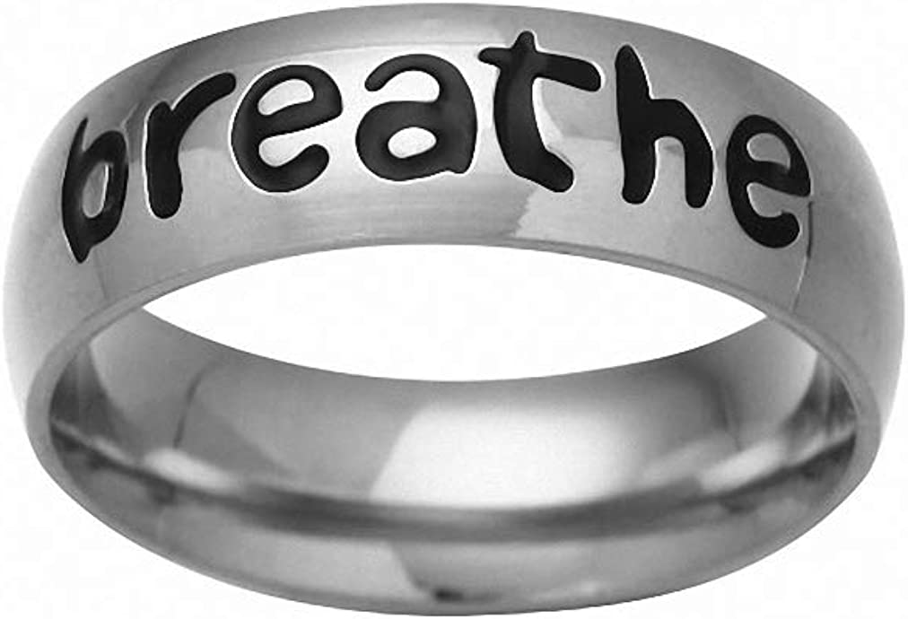 Ronliy Stainless Steel Ring I am Enough Inspiration Jewelry Strength Gift