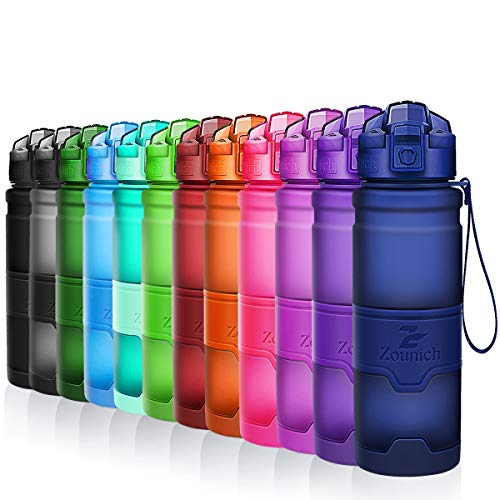 ZOUNICH Botella Agua Deporte Botellas Agua Niños sin BPA, Reutilizabl