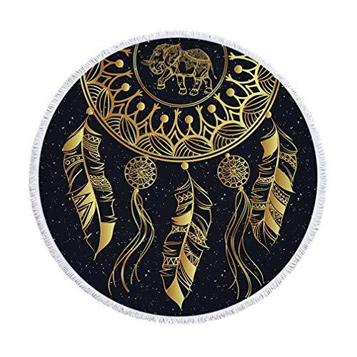 SHUNLI Microfibra Toalla De Playa Ronda De Playa Dreamcatcher Manteles De Picnic Comodidad Suave Manta (Color : 02)