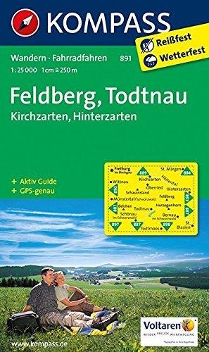 Feldberg - Todtnau - Kirchzarten - Hinterzarten: Wanderkarte mit KOMPASS-Lexikon und Radwegen. GPS-genau. 1:25000 (KOMPASS-Wanderkarten, Band 891)