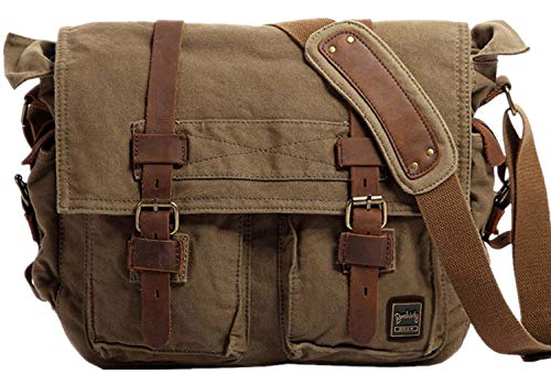 He will love a messenger bag for your anniversary