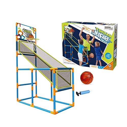 Luyjkl Lindoor/Outdoor Basketball Shooting Game per bambini junior, attività ragazzo ragazza arcade basket Hoop set educativo giocattolo S (colore : con 2 palline)