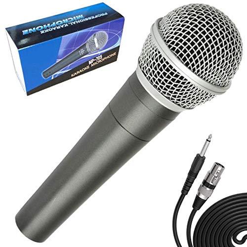 Micrófono Vocal Profesional Karaoke Dinámico con Cable. Cuerpo de Metal. Microphone