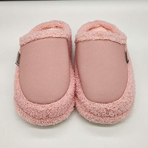 B/H Animados Pareja Zapatos Calzado,Coppia di spesse Scarpe in Cotone, Fondo morbido per mantenere Caldo-Rosa Chiaro_40-41,Transpirables y de Interior Suave Zapatillas