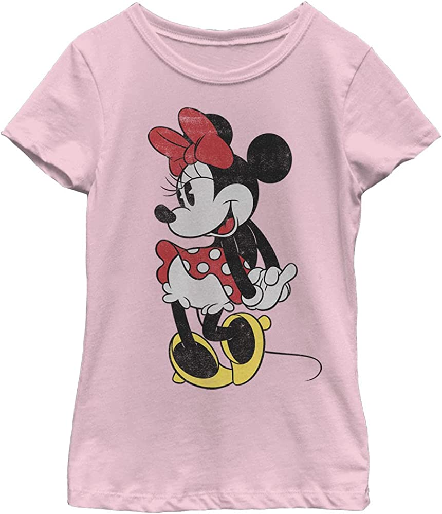 Disney Characters Classic Minnie Girl's Solid Crew Tee