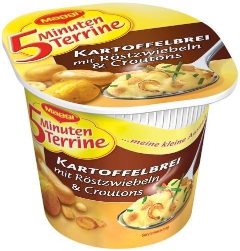 Maggi 5 Minuten-Terrine Kartoffelbrei und Röstzwiebeln, 8er Pack  (8 x 59 g)