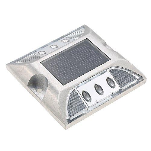 Lixada 2W 6 LED Luce di Comando Alimentato Solare Lampada della Viale Buona Bearing IP68 Lampada Impermeabile Segnale di Pericolo capacità per Viale Parcheggio Lot Trafficway Percorso