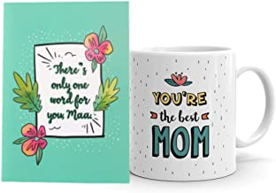 Oye Happy - Mirror Greeting Card - World's Best Mom Mug for Mother to Gift on Birthday/Mother's Day