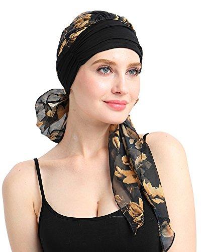 FocusCare Soft Womens Turbante Bandana Cabeza Envolver para el cáncer