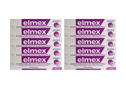 10x ELMEX Zahnschmelzschutz PROFESSIONAL Zahnpasta 75ml PZN 11072327 Zahncreme