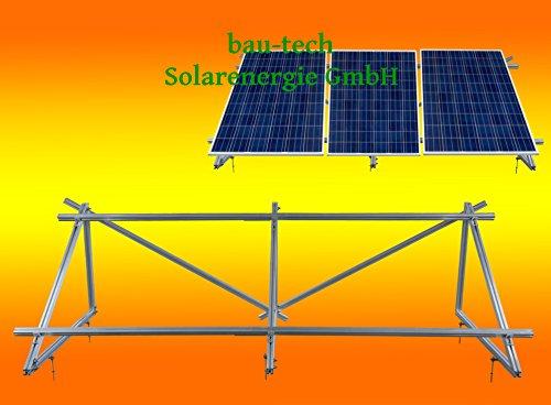 PV Solar Unterkonstruktion Aufständerung für 3 Solarmodule von bau-tech Solarenergie GmbH