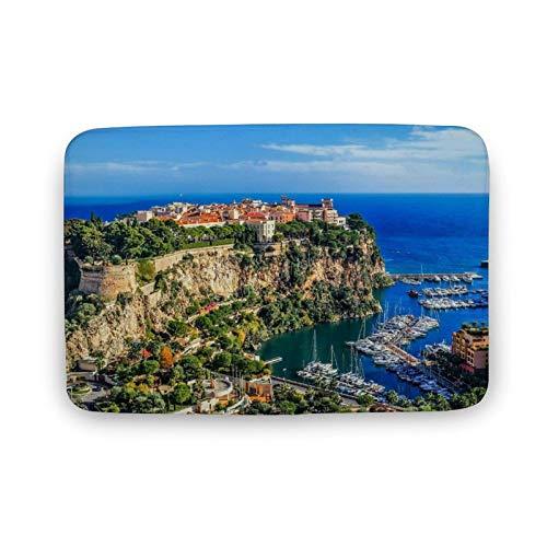 Viowr22iso Alfombra de baño antideslizante, absorbente, de The Rock Monte Carlo Monaco, cómoda, de 50 x 80 cm