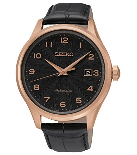 Seiko Herren-Armbanduhr Analog Automatik Leder SRP706K1