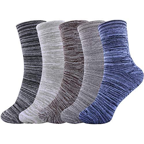 【Muy grueso y cálido】Los calcetines térmicos de invierno tienen más suavidad y comodidad con un diseño engrosado. Estos calcetines térmicos mantienen sus pies calientes, totalmente apoyados y cómodos, controlan la humedad para mantener sus pies secos...