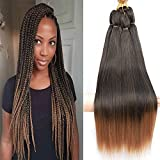 Befunny 8Packs 20' Colorful Pre stretched Braiding Hair Professional Synthetic Crochet Braiding Hair For Crochet Braids Or Crochet Twist For Women Yaki Perm Straight Itchy Free Low Frame T1B/30#
