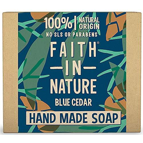 La foi dans la nature pour les hommes Cèdre bleu pur Hand Made Soap 100g