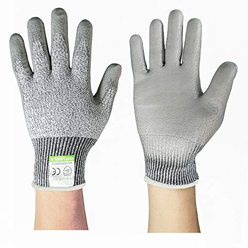 S Grebarley Safety Work Gloves,Cut Resistant Gloves,High Performance Level 5 Protection,EN 388 Certified,Full-Fingers Touchscreen,Cutting Protective Gloves for Kitchen Work and Outdoor