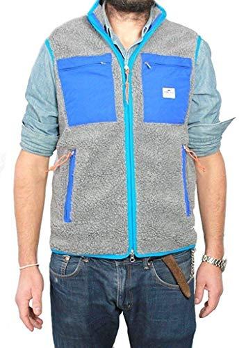 Penfield Weste Herren Grau/Blau 100% Polyester Größe M