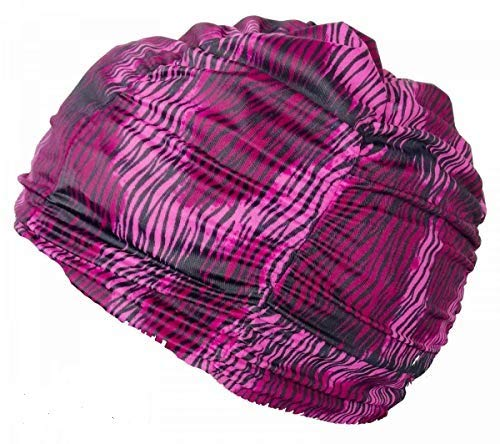 Swimxwin Bonnet de Bain Gilda Design 5   Bonnet pour Cheveux Longs   Bonnet de Piscine en Tissu   Bonnet de Natation   Grand Confort et Élégance   Fabriqué en Italie