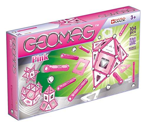 Geomag- Pink Construcciones magnéticas y Juegos educativos, Multicolor, 104 Pizas (344)