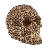 Joocyee Resina simulación Forma de Calavera Reptil Ocultar Cueva Acuario pecera Adornos, pecera Reptil Caja Esqueleto Rey, como se Muestra