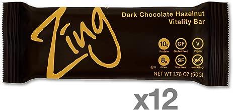 Zing Bars Dark Chocolate Hazelnut Bar, 1.76 Ounce (Pack of 12), 21.12 Ounce
