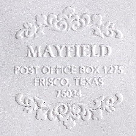 Personalized Wedding Embosser Realtor Gift Handheld Embosser Custom Address Embosser Swirl Border Address Embosser Housewarming Gift