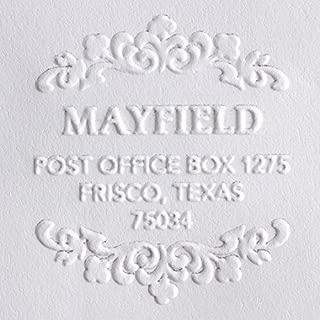 Custom Embosser, Address Embosser, Embossing Stamp, Embosser Seal Shiny EZ-Seal Round Decorative Personalized Custom Address Embosser with Name, Designer Hand Held Embosser (Red Embosser)