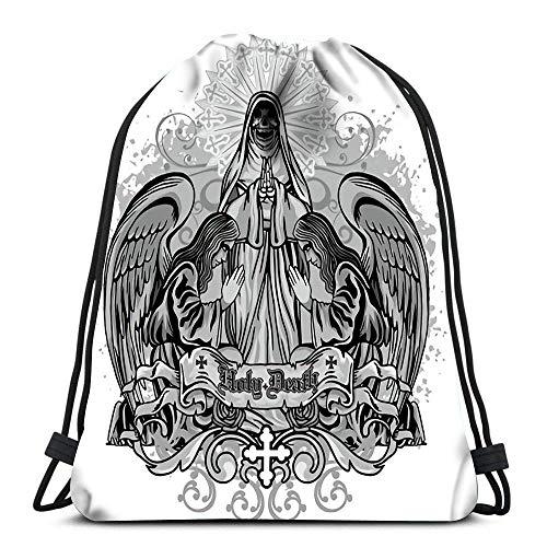 BXBX Rucksack Sport Sporttasche Grunge Schädel Wappen für Frauen Männer Kinder Kinder Größe