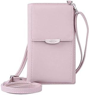 HMILYDYK Mädchen Umhängetasche Floral Leder Mini Tasche Handy Telefon Geldbörse Kartenhalter Geldbörse Mini Schultertasche