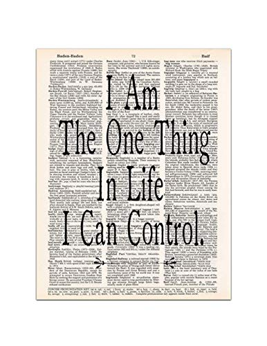 I am the One Thing in Life I Can Control, Hamilton Quote Art Print