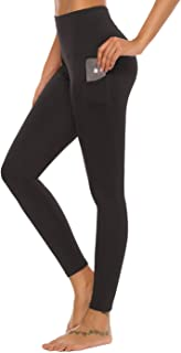 Mint Lilac Women's High Waist Workout Yoga Leggings with Pockets Athletic Tummy Control Running Pants