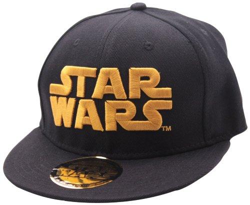 Star Wars Logo Hombre Gorra Negro, 100%...