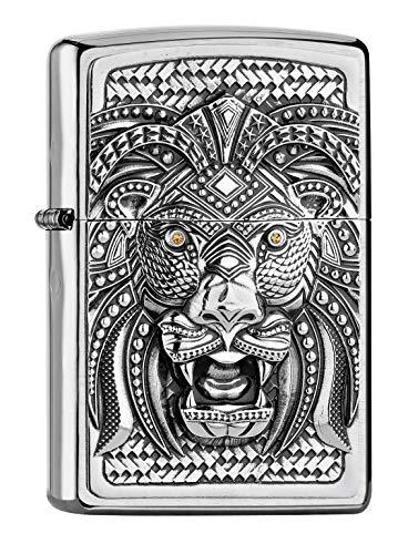 Imagen del productoZippo Collection 2019-2005906 Art Lion 200-Mechero, Plata, smal