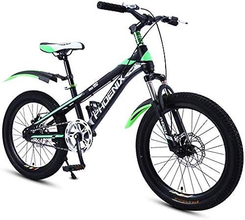 Kinderfürr r fürrad Sport fürrad Sport Student mit fürrad Mountainbike Kinder fürrad Camping fürrad, kohlenstoffstahl Rahmen (Farbe   Grün, Größe   18inches)