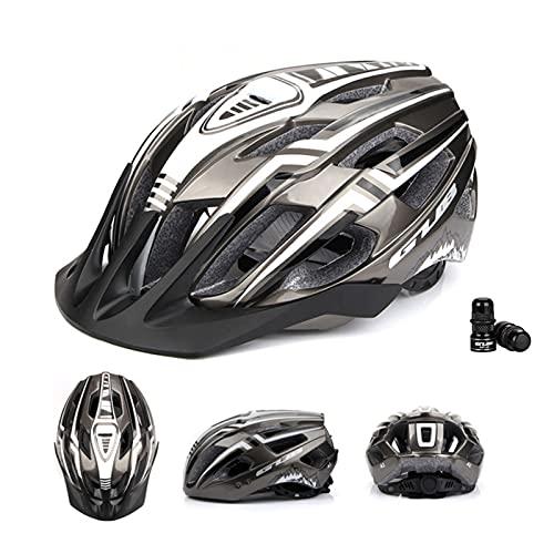 Miugwp Casco de Bicicleta para Adultos Ciclismo de Montaña Ajustable para Hombres Mujeres Adolescentes