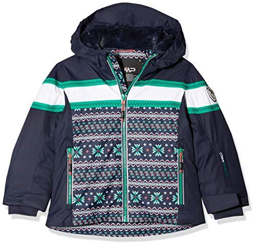 CMP Mädchen Wattierte 5000 Twill Skijacke Jacke, B.Blue-Emerald, 128