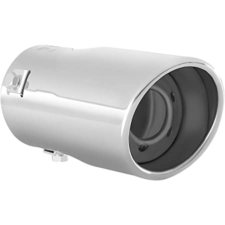 WZJFZPL Cubierta del Tubo del silenciador de la Punta del Escape del Coche 2pcs Silenciadores para VW Tiguan Volkswagen Passat B7 CC para Audi A4 B8 A3 A1 Q5 Accesorios para autom/óviles