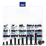 M2.3 M2.6 M3 Flachschraube, 450 Stück Flachkopfschrauben Set Micro Laptop Schrauben Flachkopfschrauben Sortiment Kit für Computer PC Pan Selbstschneidende Elektronik