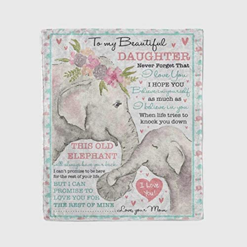 Blanket Gifts quality assurance With Size 60x80 Just Elephants Pl Who Girl Max 68% OFF A Loves