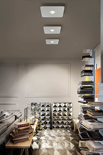 Studio Italia Frozen plafondlamp in wit | handgemaakt in Italië | plafondlamp modern design dimbaar | lamp LED