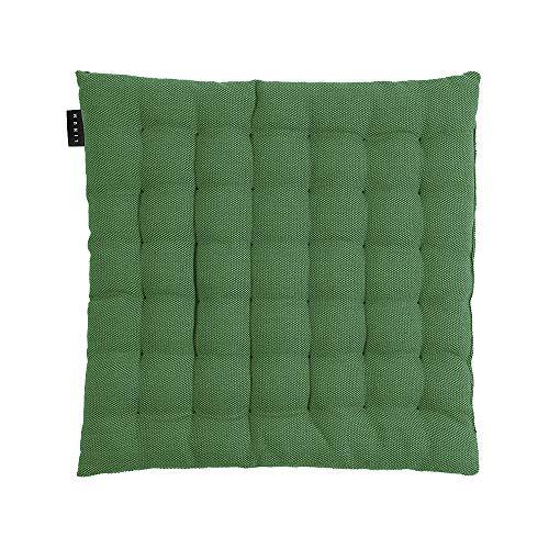 LINUM Pepper Sitzkissen, Baumwolle, Wiesengrün, 40 x 40 x 3 cm